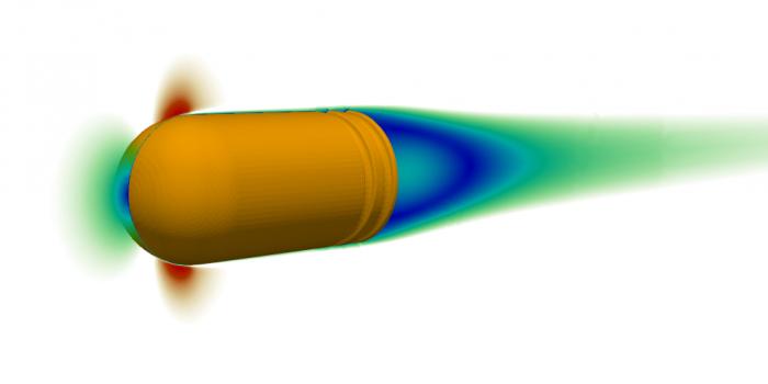 Bullet CFD aerodynamics simulation