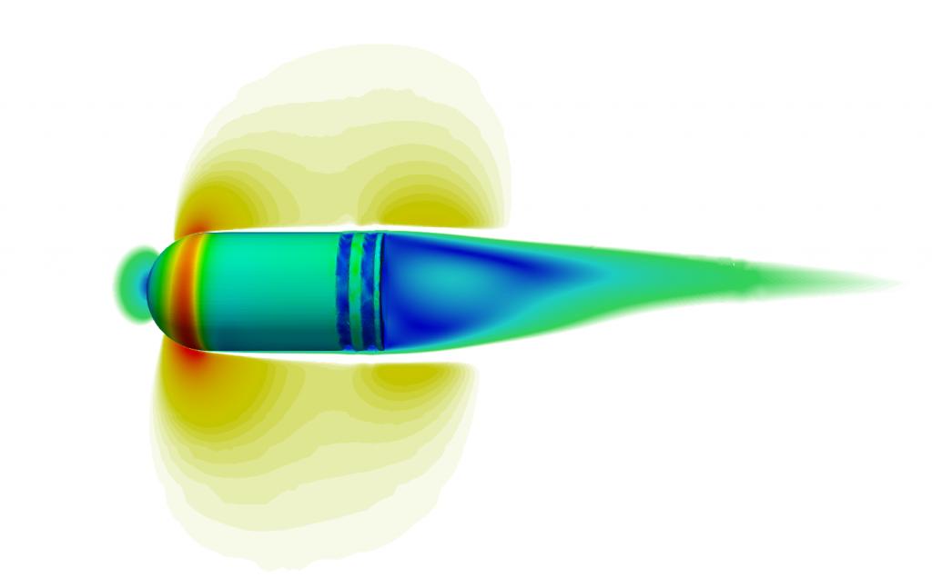 Bullet aerodynamics sidewind CFD
