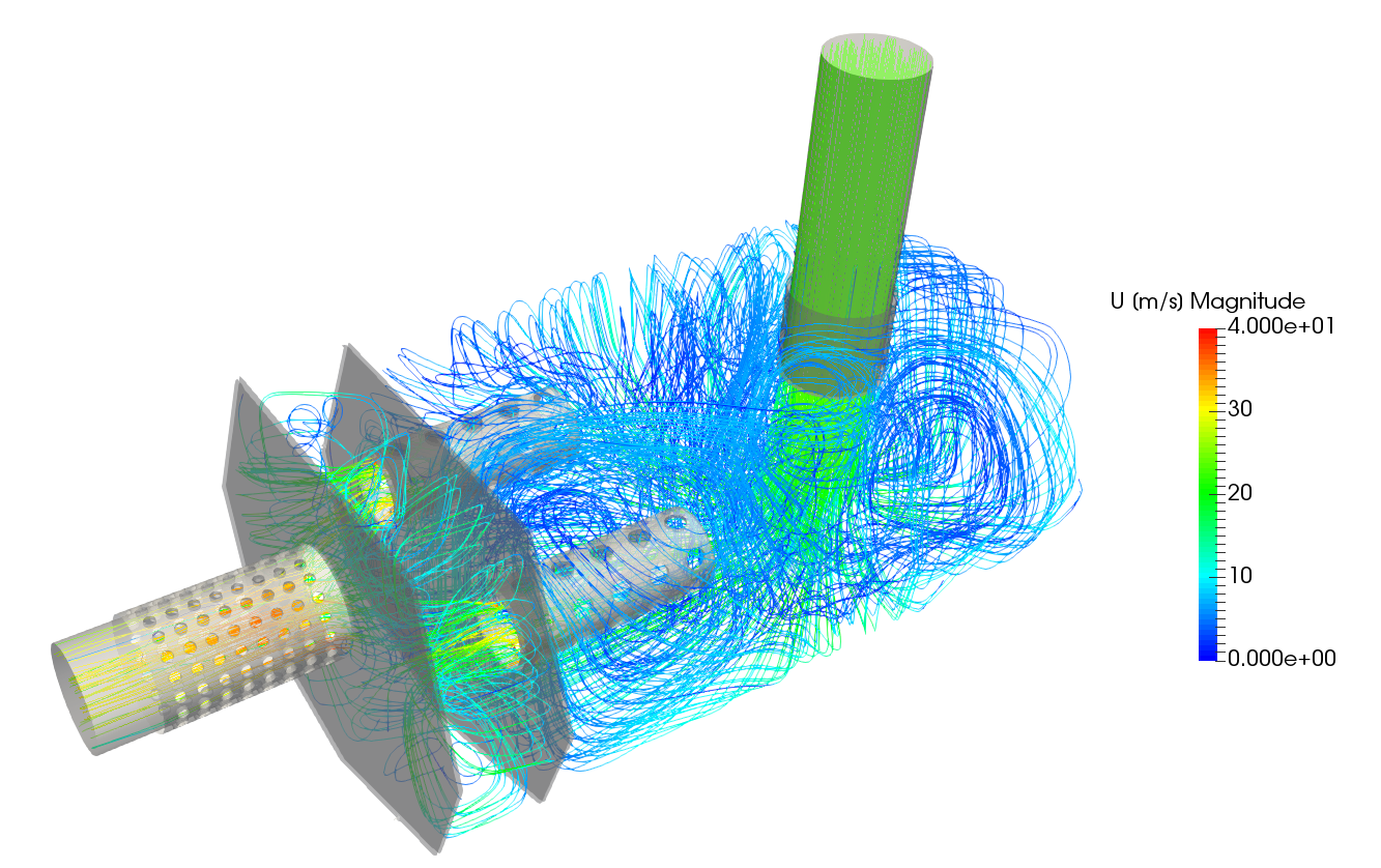 Vacuum Blower Data Sheet : Schalldämpfer cfd simulation abgasanlage auspuff