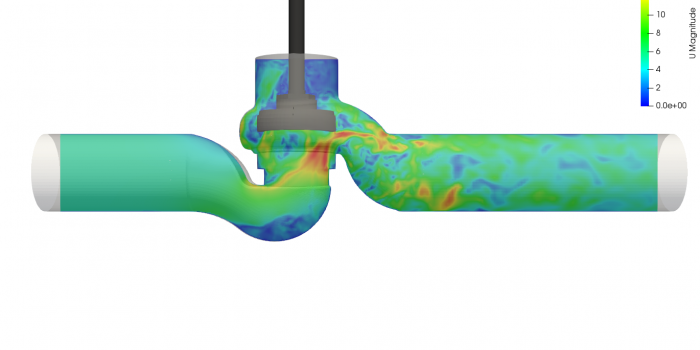 Valve simulation with CFD